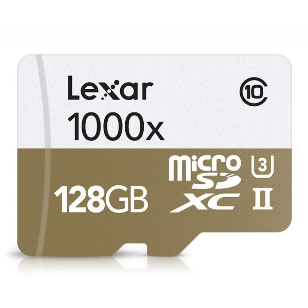 GoPro - Lexar Professional 1000x microSDXC 128 GB UHS-II/U3 - 150MB/s - W/USB 3.0 Reader Flash Memory Card - Accessori GoPro