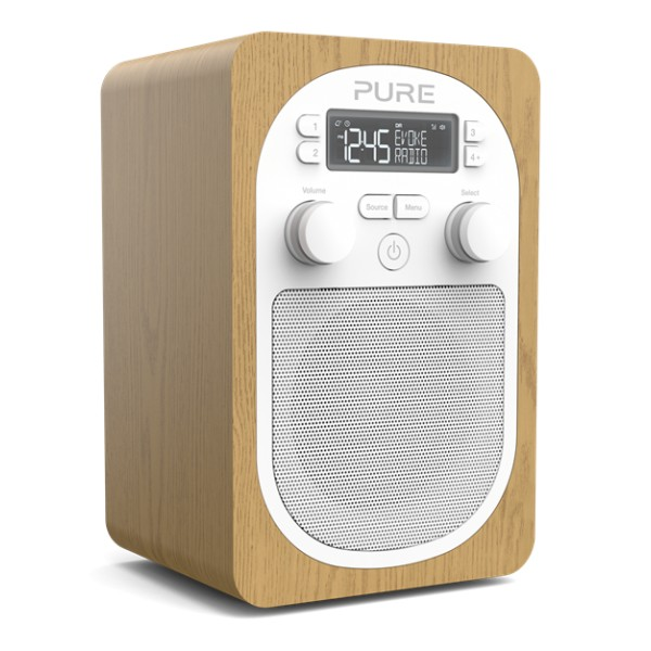 Pure - Evoke H2 - Oak - Compact, Portable DAB Digital Radio with FM - High Quality Digital Radio