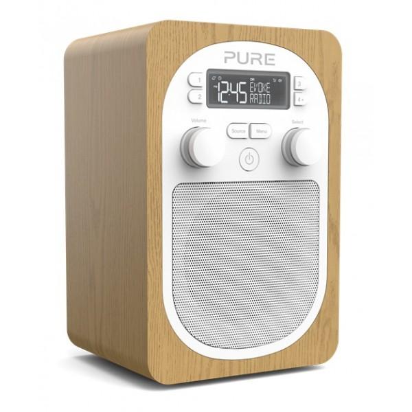 Pure - Evoke H2 - Quercia - Radio Digitale DAB Compatta e Portatile con FM - Radio Digitale di Alta Qualità