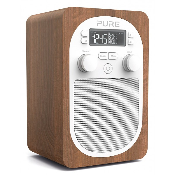 Pure - Evoke H2 - Walnut - Compact, Portable DAB Digital Radio with FM - High Quality Digital Radio