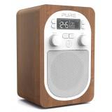 Pure - Evoke H2 - Noce - Radio Digitale DAB Compatta e Portatile con FM - Radio Digitale di Alta Qualità