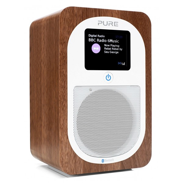 Pure - Evoke H3 - Walnut - Portable DAB/DAB+ and FM Radio with Bluetooth - High Quality Digital Radio