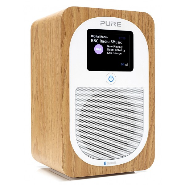 Pure - Evoke H3 - Oak - Portable DAB/DAB+ and FM Radio with Bluetooth - High Quality Digital Radio