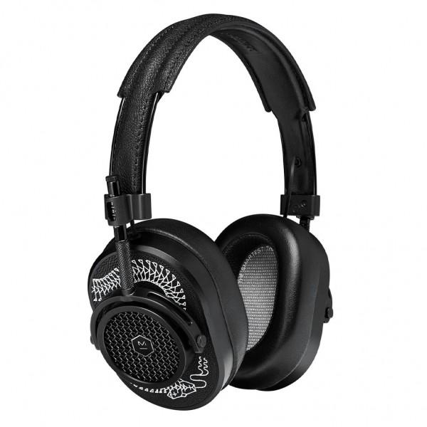 Master & Dynamic - MH40 - Limited Edition - Scott Campbell Studio - Metallo Nero / Pelle Nera - Cuffie Auricolari Premium