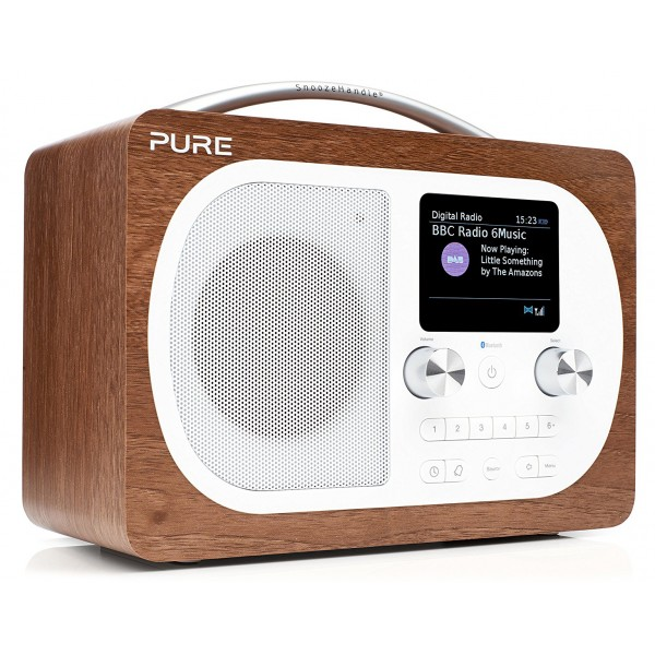 Pure - Evoke H4 - Walnut - Portable DAB/DAB+ and FM Radio with Bluetooth - High Quality Digital Radio