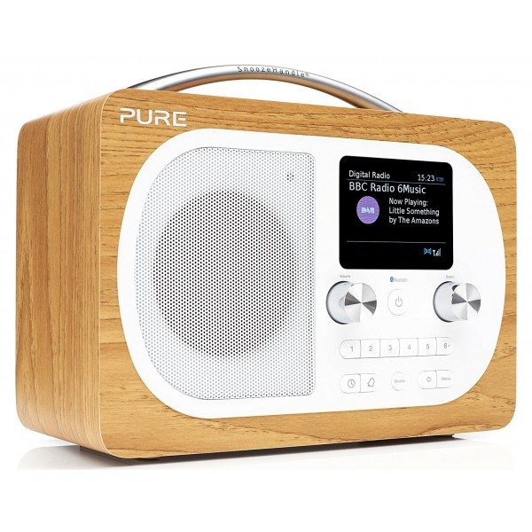 Pure - Evoke H4 - Oak - Portable DAB/DAB+ and FM Radio with Bluetooth - High Quality Digital Radio