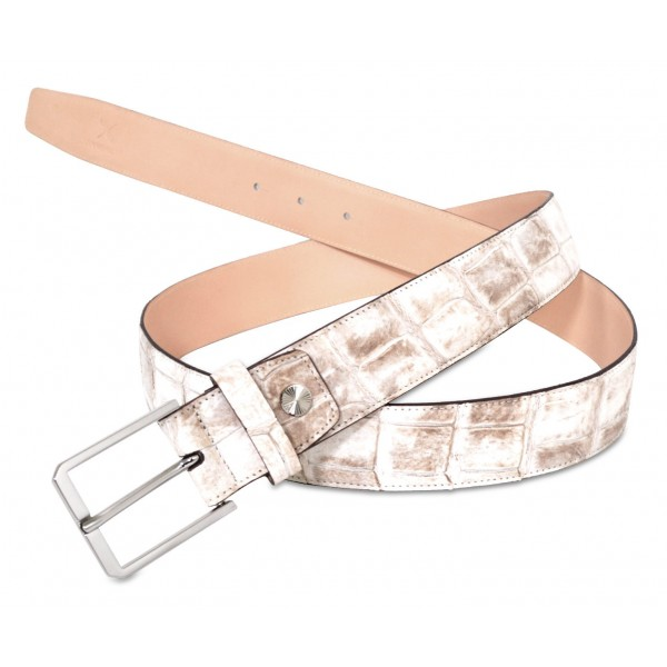 Ammoment - Belt - Nile Crocodile in Himalayan Nature - Leather High Quality Luxury Belt
