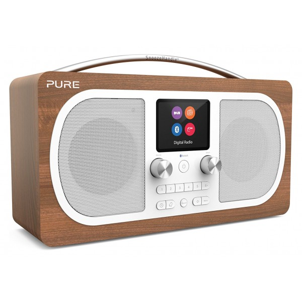 Pure - Evoke H6 - Walnut - Portable DAB/DAB+ and FM Radio with Bluetooth - High Quality Digital Radio