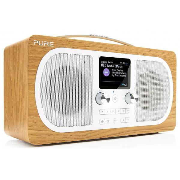 Pure - Evoke H6 - Quercia - Radio Portatile DAB / DAB + Radio FM con Bluetooth - Radio Digitale di Alta Qualità