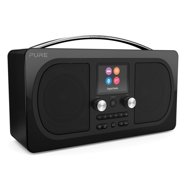 Pure - Evoke H6 - Prestige Edition - Black - Portable DAB/DAB+ and FM Radio with Bluetooth - High Quality Digital Radio