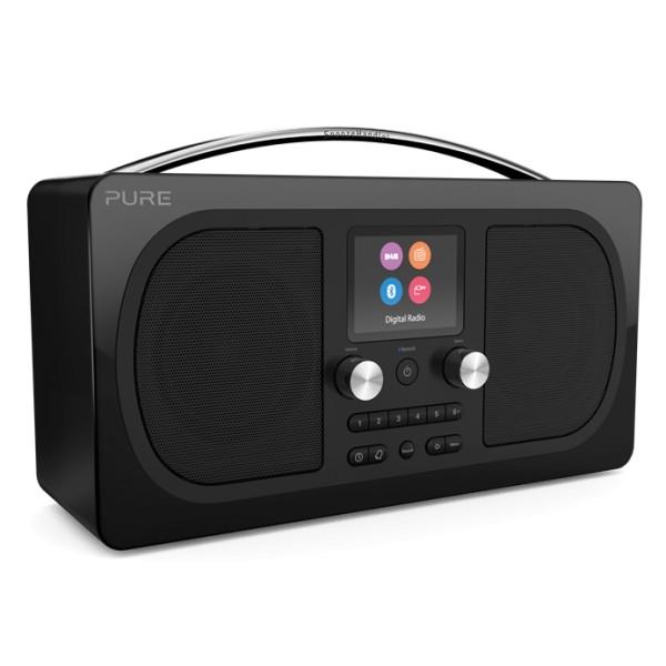 Pure - Evoke H6 - Prestige Edition - Nero - Radio Portatile DAB / DAB + Radio FM con Bluetooth - Radio Digitale di Alta Qualità
