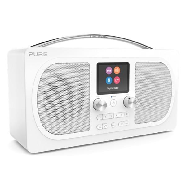 Pure - Evoke H6 - Prestige Edition - Bianco - Radio Portatile DAB / DAB + Radio FM con Bluetooth - Radio Digitale Alta Qualità