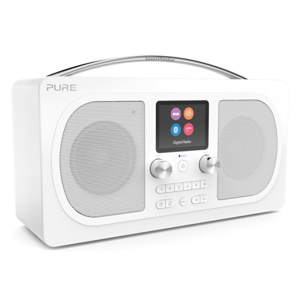 Pure - Evoke H6 - Prestige Edition - White - Portable DAB/DAB+ and FM Radio with Bluetooth - High Quality Digital Radio