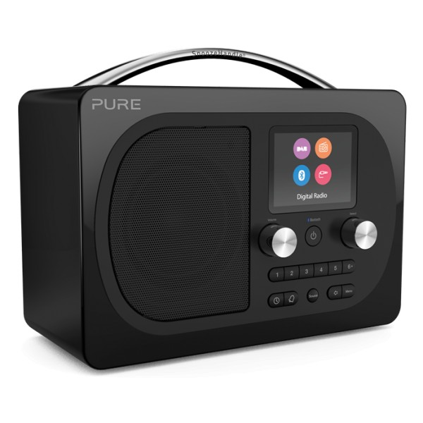Pure - Evoke H4 - Prestige Edition - Black - Portable DAB/DAB+ and FM Radio with Bluetooth - High Quality Digital Radio