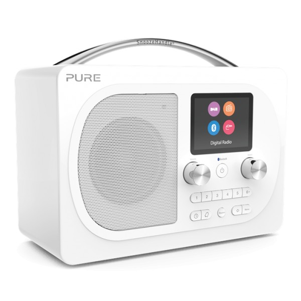 Pure - Evoke H4 - Prestige Edition - Bianco - Radio Portatile DAB / DAB + Radio FM con Bluetooth - Radio Digitale Alta Qualità