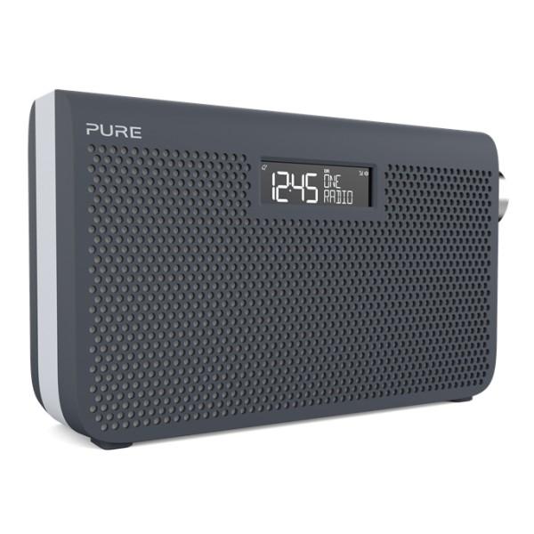 Pure - One Maxi Series 3s - Blu Ardesia - Stereo Portatile DAB / DAB + e Radio FM - Stile Moderno - Radio Digitale Alta Qualità