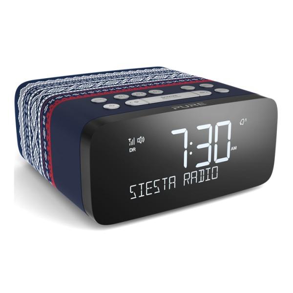 Pure - Siesta Rise Marius - Blue - Bedside DAB+/FM Alarm Clock Radio with Bluetooth - High Quality Digital Radio