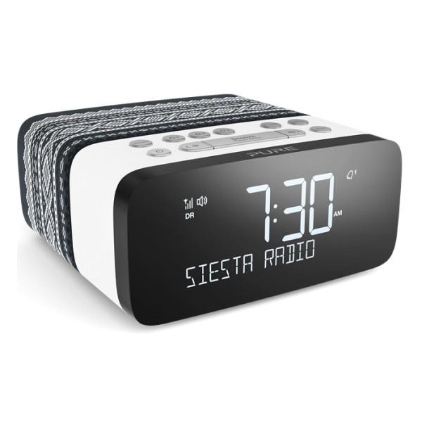 Pure - Siesta Rise Marius - Grey - Bedside DAB+/FM Alarm Clock Radio with Bluetooth - High Quality Digital Radio