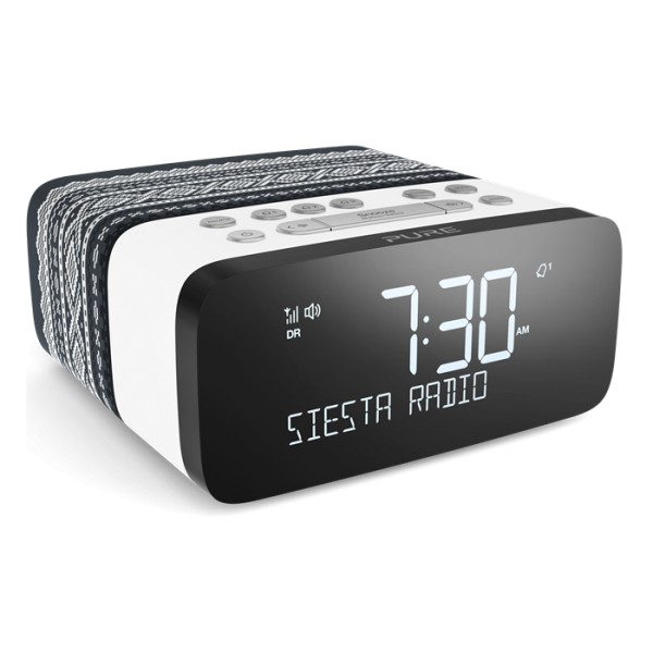 Pure - Siesta Rise Marius - Grigio - Radio Sveglia da Comodino DAB + / FM con Bluetooth - Radio Digitale di Alta Qualità