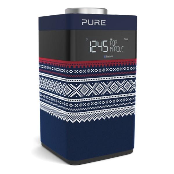 Pure - Pop Midi Marius - Blu - DAB / DAB + Compatto e Portatile - Radio FM con Bluetooth - Radio Digitale di Alta Qualità