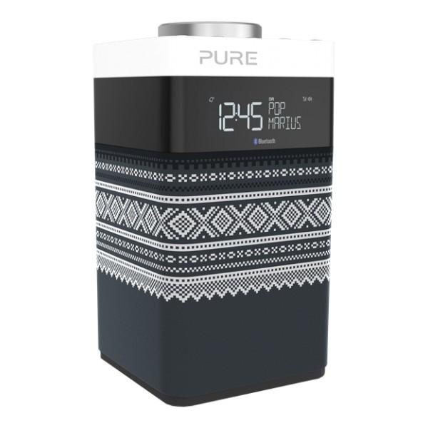 Pure - Pop Midi Marius - Grigio - DAB / DAB + Compatto e Portatile - Radio FM con Bluetooth - Radio Digitale di Alta Qualità