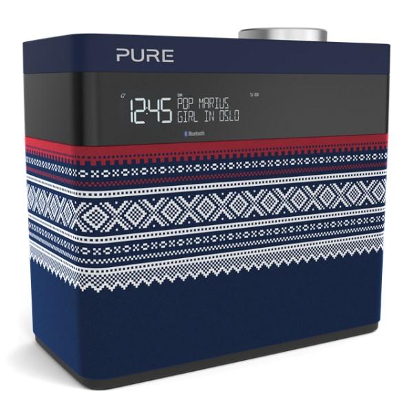 Pure - Pop Maxi Marius - Blue - Portable Stereo DAB/DAB+/FM Radio with Bluetooth - High Quality Digital Radio