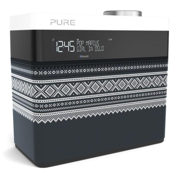 Pure - Pop Maxi Marius - Grigio - Stereo Portatile DAB / DAB + / Radio FM con Bluetooth - Radio Digitale di Alta Qualità