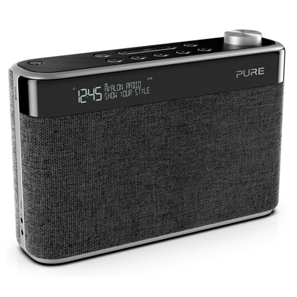 Pure - Avalon N5 - Nero Carbone - DAB + / Radio FM con Bluetooth - Radio Digitale di Alta Qualità