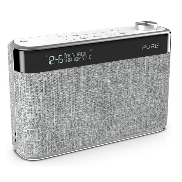 Pure - Avalon N5 - Grigio Perla - DAB + / Radio FM con Bluetooth - Radio Digitale di Alta Qualità