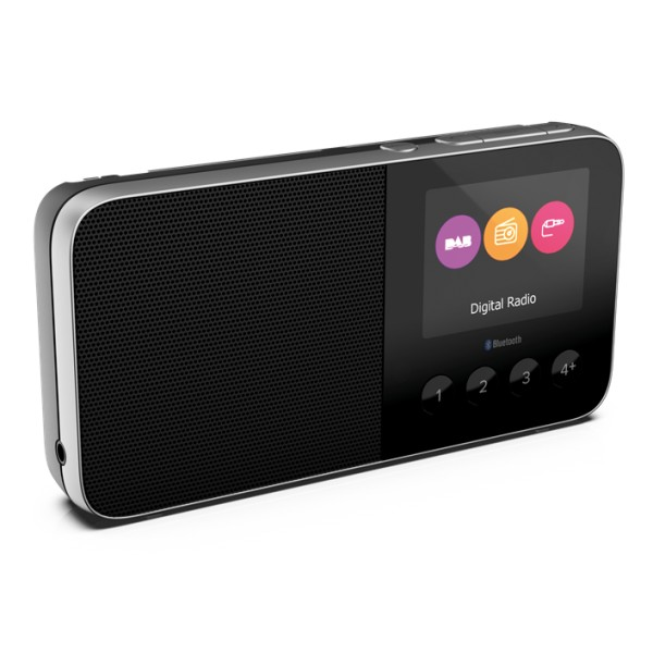 Pure - Move T4 - Nero - Radio DAB + / FM Personalizzabile Tascabile con Bluetooth - Radio Digitale di Alta Qualità