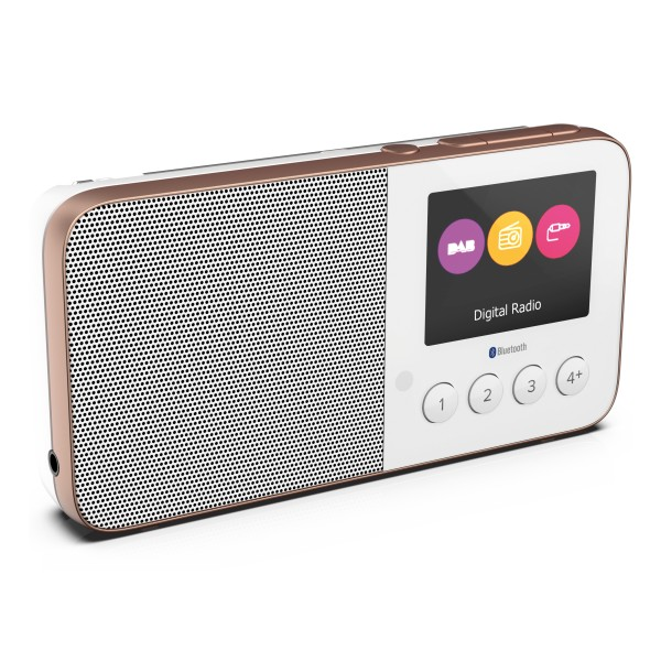 Pure - Move T4 - Bianco - Radio DAB + / FM Personalizzabile Tascabile con Bluetooth - Radio Digitale di Alta Qualità