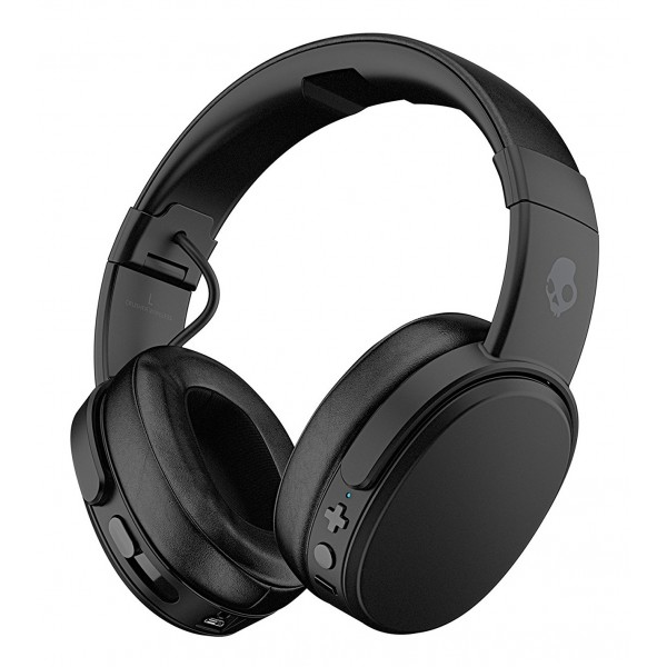 Skullcandy - Crusher - Black - Bluetooth Wireless Over-Ear Headphones with Microphone - Noise Isolating Memory Foam