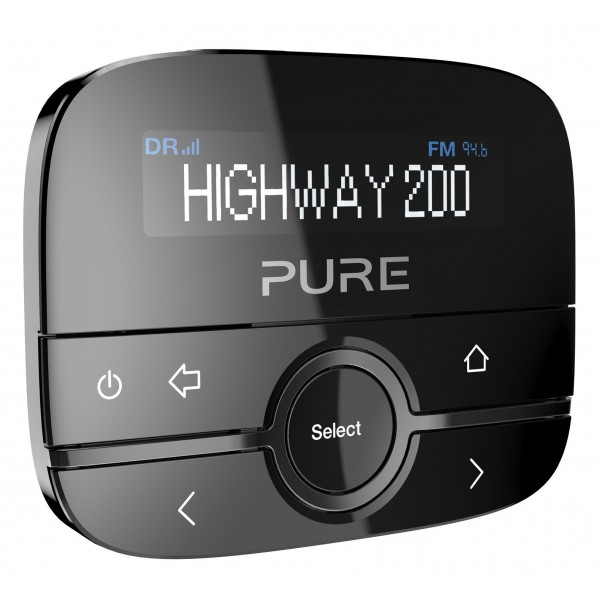 Pure - Highway 200 - Adattatore Radio DAB / DAB + In-Car con Musica Tramite Aux-In - Radio Digitale di Alta Qualità