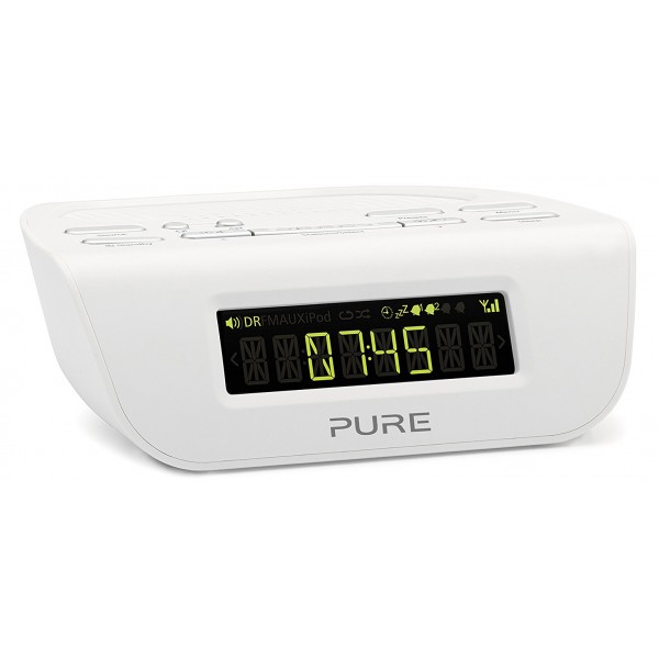 Pure - Siesta Mi Series 2 - Bianco - Comodino Radio Digitale DAB e FM - Radio Digitale di Alta Qualità