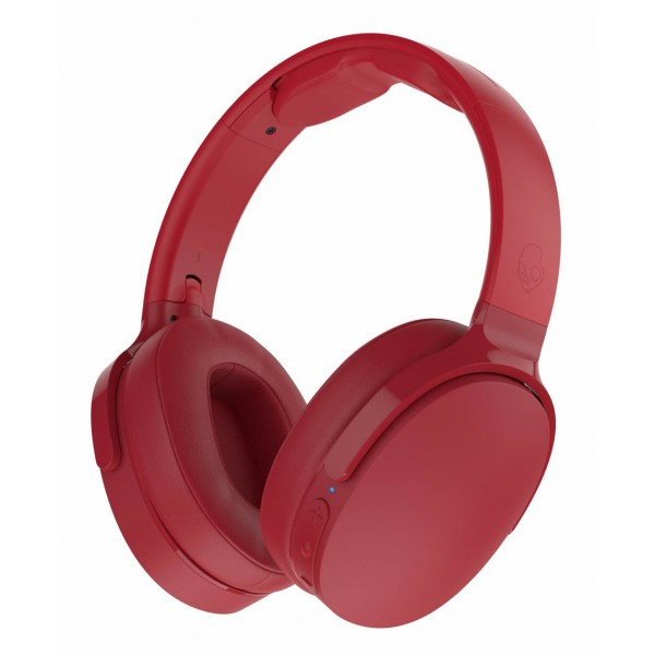 Skullcandy - Hesh 3 - Red - Bluetooth Wireless Over-Ear Headphones with Microphone - Noise Isolating Memory Foam