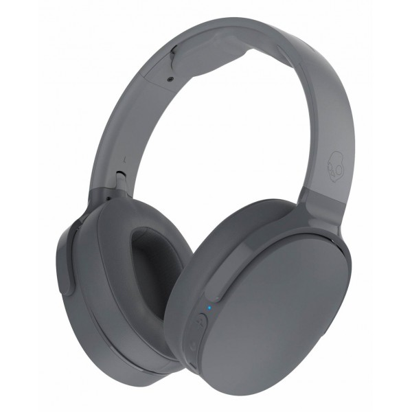 Skullcandy - Hesh 3 - Grey - Bluetooth Wireless Over-Ear Headphones with Microphone - Noise Isolating Memory Foam