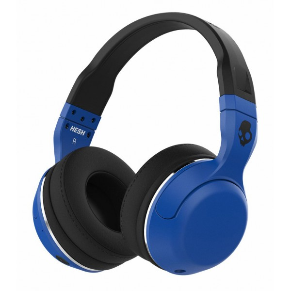 Skullcandy - Hesh 2 - Blu / Nero - Cuffie Auricolari Bluetooth Wireless Over-Ear con Microfono, Audio Supremo e Bassi Potenti