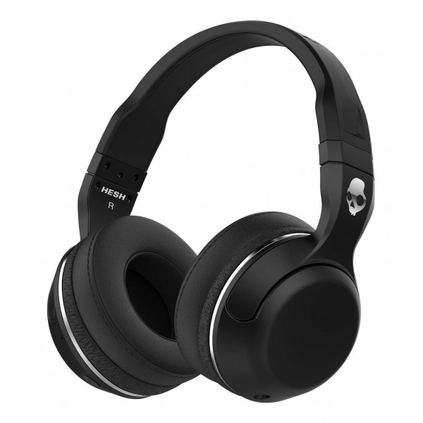 Skullcandy - Hesh 2 - Nero - Cuffie Auricolari Bluetooth Wireless Over-Ear con Microfono, Audio Supremo e Bassi Potenti