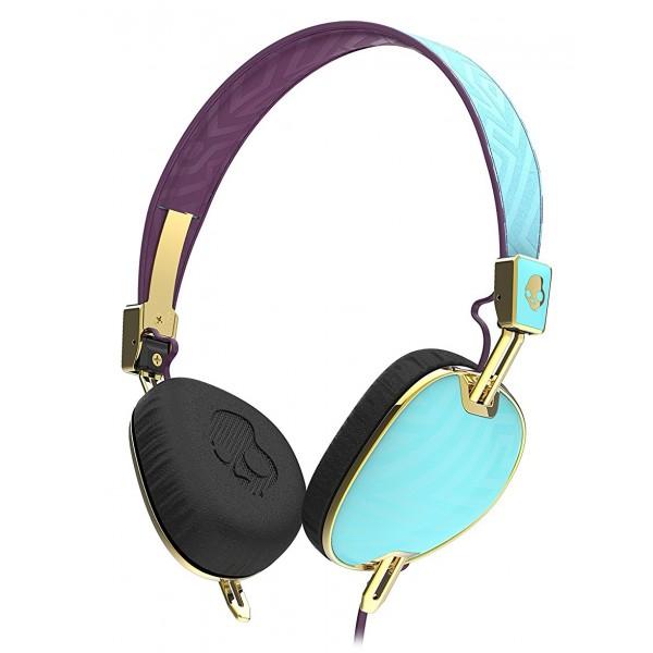 Skullcandy - Knockout - Viola / Oro - Cuffie Auricolari da Donna Wireless On-Ear con Microfono e Audio Supremo