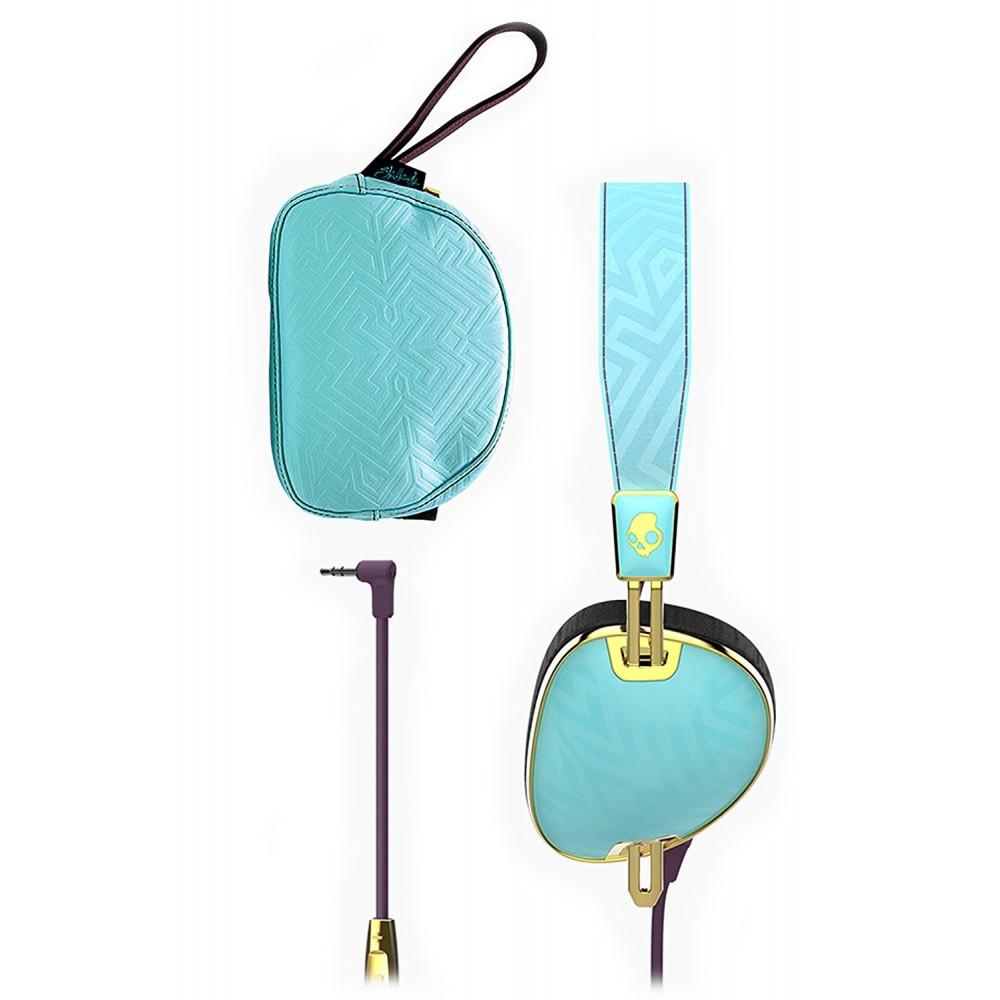 ... Skullcandy - Knockout - Viola   Oro - Cuffie Auricolari da Donna  Wireless On-Ear ... 5909ae62a78a