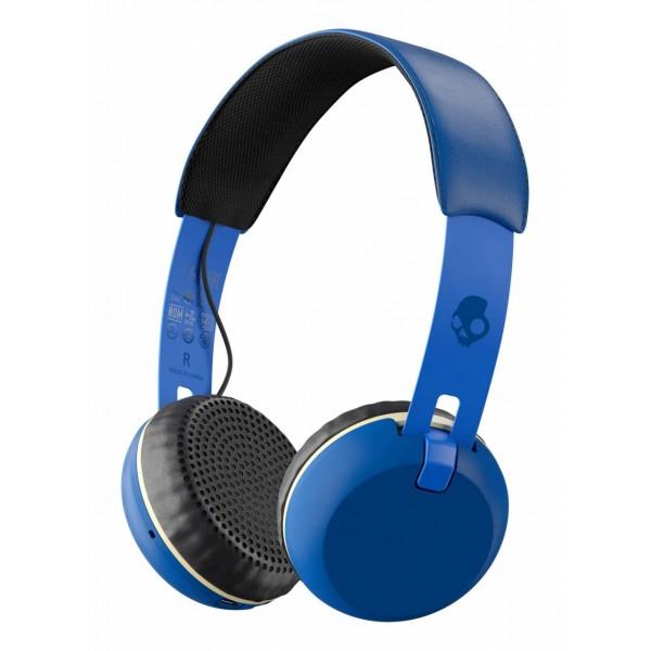 Skullcandy - Grind - Blu Reale Famoso - Cuffie Auricolari Bluetooth Wireless On-Ear con Microfono, Audio Supremo e Bassi Potenti