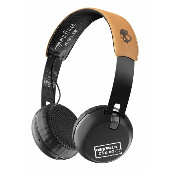 Skullcandy - Grind - Captain Fin - Bluetooth Wireless On-Ear Headphones with Microphone, Supreme Sound and Powerful Bass