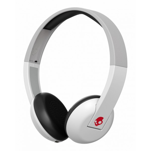 Skullcandy - Uproar - White / Gray - Bluetooth Wireless On-Ear Headphones with Microphone, Supreme Sound and Powerful Bass