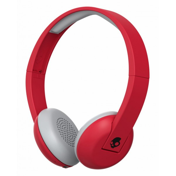Skullcandy - Uproar - Famed Red / Black - Bluetooth Wireless On-Ear Headphones with Microphone, Supreme Sound and Powerful Bass