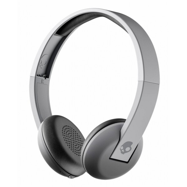 Skullcandy - Uproar - Street Gray - Bluetooth Wireless On-Ear Headphones with Microphone, Supreme Sound and Powerful Bass