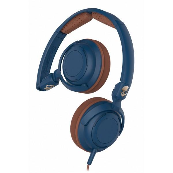 Skullcandy - Lowrider - Navy / Marrone - Cuffie Auricolari On-Ear con Microfono