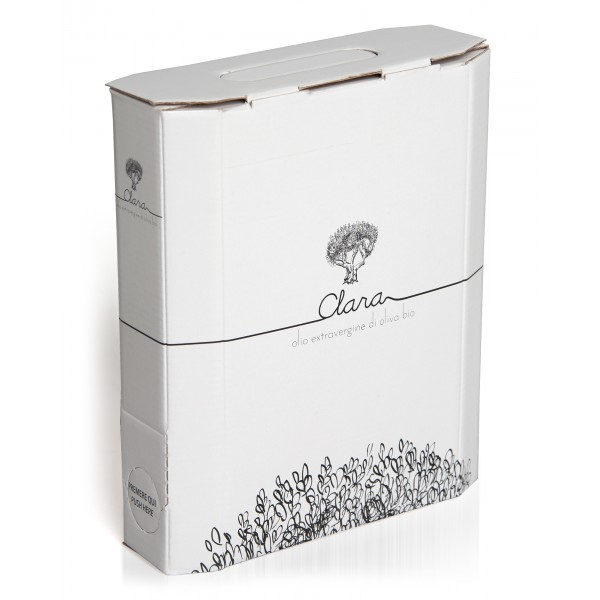 Olio Clara - Organic Extra Virgin Olive Oil - Monovarietal of Carboncella - 1 l
