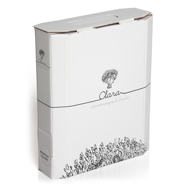 Olio Clara - Olio Extravergine di Oliva Bio - Monovarietale di Carboncella - 2 l