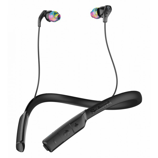 Skullcandy - Method BT Sport - Nero / Grigio - Auricolari Bluetooth Sport Wireless con Microfono - Resistenti all'Acqua