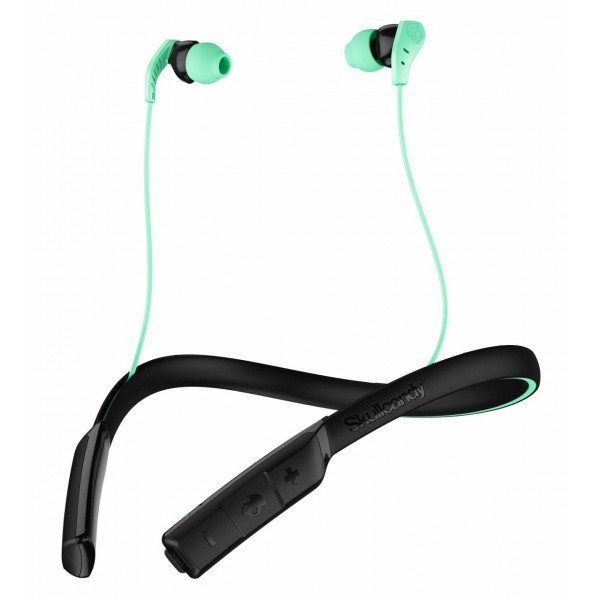 Skullcandy - Method BT Sport - Menta / Nero - Auricolari Bluetooth Sport Wireless con Microfono - Resistenti all'Acqua